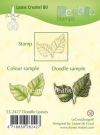 LeCrea - Doodle clear stamp Leaves 55.2427