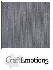 CraftEmotions linnenkarton graniet grijs 30,5x30,5cm
