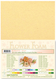 LeCrea - 10 Flower Foam sheets A4 beige 25.4193 0.8mm