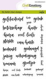 CraftEmotions clearstamps A6 - Bullet Journal - tekst diverse 5-10mm (NL)