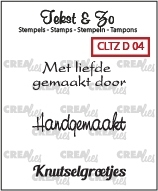 Crealies Clearstamp Tekst&Zo Divers 4 (NL) CLTZD04