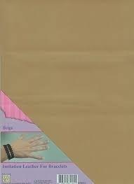 Nellie`s Choice - Armband / Bracelet - Imitatieleer A4 - beige