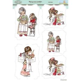The Hobby House Wee Stamps - Baking with Grandma (HHEB003)