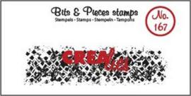 Crealies Clearstamp Bits & Pieces onregelmatige grunge vierkanten (lang) CLBP167 21 x 75mm