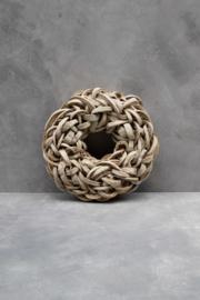 Coco c slice wreath - 40 cm - Peach Wash
