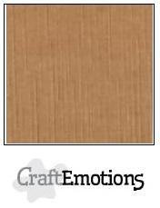 CraftEmotions linnenkarton mokka 27x13,5cm 250gr