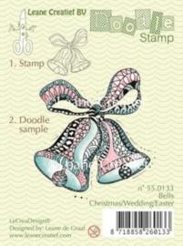 Doodle clear stamp bells Christmas/Wedding/Easter