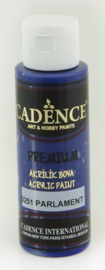 Cadence Premium acrylverf (semi mat) Donker Violet - Parliament 01 003 0251 0070 70 ml