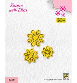 Nellie`s Choice - SD228 - Set of 3 Flowers-7