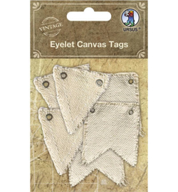 40660001 - Eyelet Canvas Tags, assorted in 2 motifs