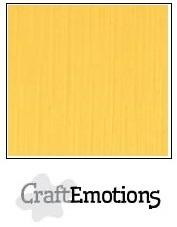 CraftEmotions linnenkarton goudgeel 30,5x30,5cm