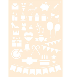 Joy! Crafts - 6002/0875 - Polybesa Journalingstencil nr. 8
