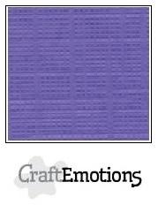 CraftEmotions linnenkarton Hortensia paars 30,5x30,5cm