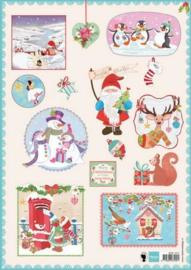 Marianne D 3D Decoupage sheet Jingle bells 1 A4 EWK1215