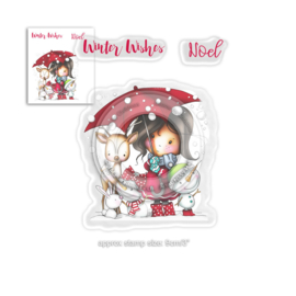 Polkadoodles - Stamp - Winnie Winter Wishes Clear Stamps (PD7960)
