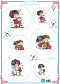Card Topper Don & Daisy - Winter 2 - DDK3212