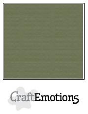 CraftEmotions linnenkarton - legergroen LHC-82 A4 250gr