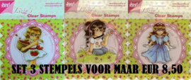 Joy!Crafts Clear Stamp Lizzy SET van 3 STEMPELS