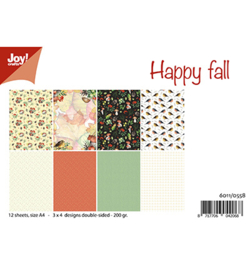Joy! Crafts - 6011/0558 - Papierset - Happy Fall/Mushroom Autumn