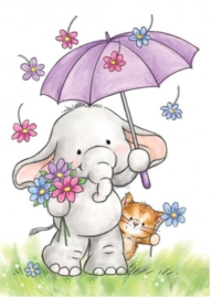 Wild Rose Studio`s A7 stamp set Bella with Umbrella CL51