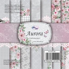"Paper Collection Set 6""*6"" Aurora; 250 gsm"