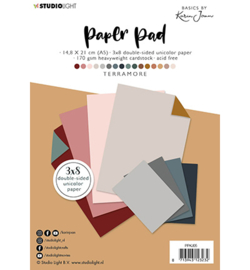 Studio Light - PPKJ05 - KJ Paper Pad Pattern Paper Terramore Basics by Karin Joan nr.5