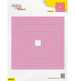 Nellie`s Choice - MFD148 - Double stitchlines: Square