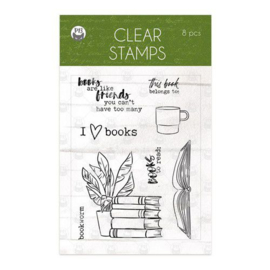 Piatek13 - Clear stamp set Garden of Books 01 P13-GAR-30