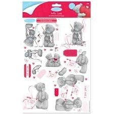 A4 Glittered Decoupage (2pk) - Me To You (Cupid) - (MTY 169015)