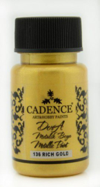 Cadence Dora metallic verf Rich gold 01 011 0136 0050 50 ml