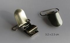 speenkoord / bretel Clip zilver
