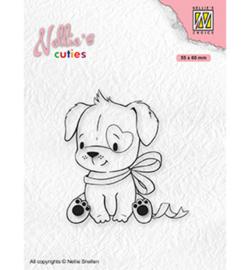 Nellie`s Choice - NCCS015 - Christmas Dog with Christmas-bow