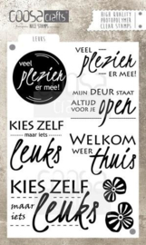 COOSA Crafts clearstamps A6 - Leuks A6 (NL)
