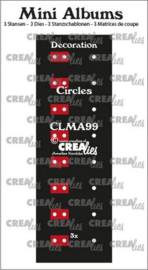 Crealies stans Mini Albums Decoratie cirkels CLMA99 2x145 mm + 1x122 mm