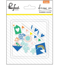 Pinkfresh Studio Dream On: Rubber chips