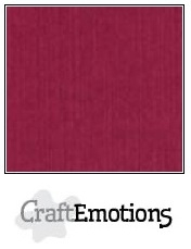 CraftEmotions linnenkarton bordeaux 30,5x30,5cm