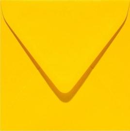 Papicolor Envelop vierk. 14cm dottergeel 105gr-CV 6 st 303910 - 140x140 mm