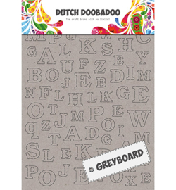 Dutch Doobadoo - 492500005 - Greyboard Alphabet