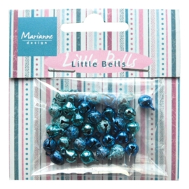 Marianne D Decoration Mini bells - light blue & dark blue JU0940