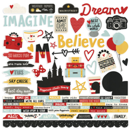 Simple Stories - Say Cheese III Collection - 12 x 12 Cardstock Stickers - Combo