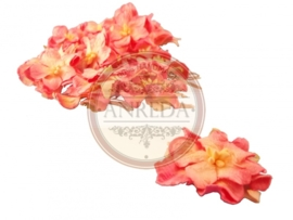 Curly Flowers - Light Pink Variegated