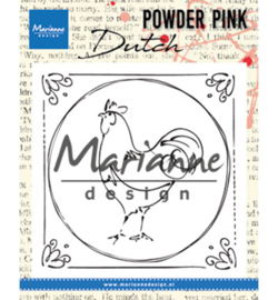 Marianne D Stempel PP2805 - Powder Pink - Dutch rooster