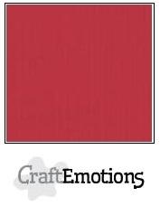 CraftEmotions linnenkarton kersen rood 30,5x30,5cm