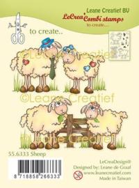 LeCrea - clear stamp combi Schapen 55.6333