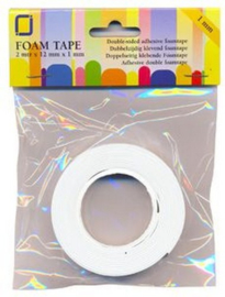 Foam tape 1 mm dubbelzijdig 2 MT 1 RL 3.3010