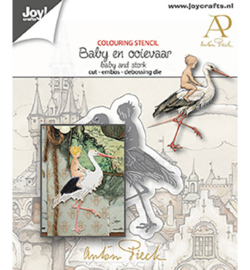 Joy! Crafts - 6002/1612 - Anton Pieck - Baby & Ooievaar