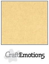 CraftEmotions linnenkarton honing (kraft) 30,5x30,5cm