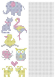 Nellie`s Choice CrossCraft Pattern-1 Animals CCPAT001 A4