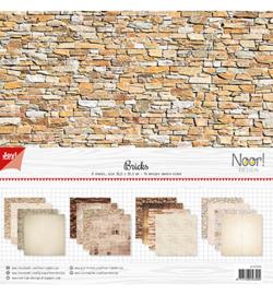Noor! Design - 6011/0576 - Scrappapier - Design Stenen