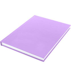 15589 - Dummyboek, blanco hard cover, violet pastel